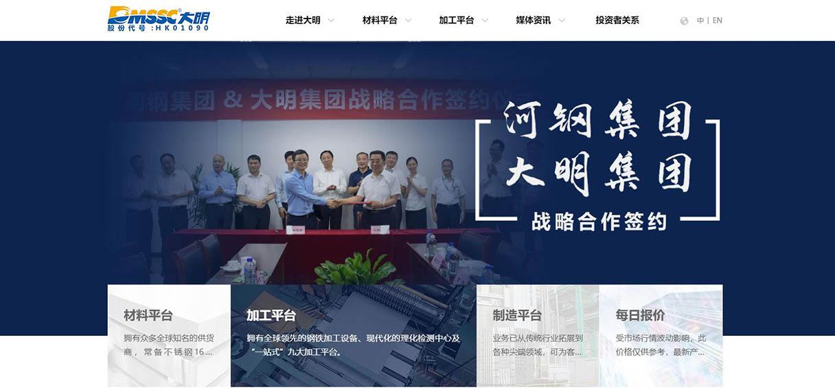 大明集团网站设计