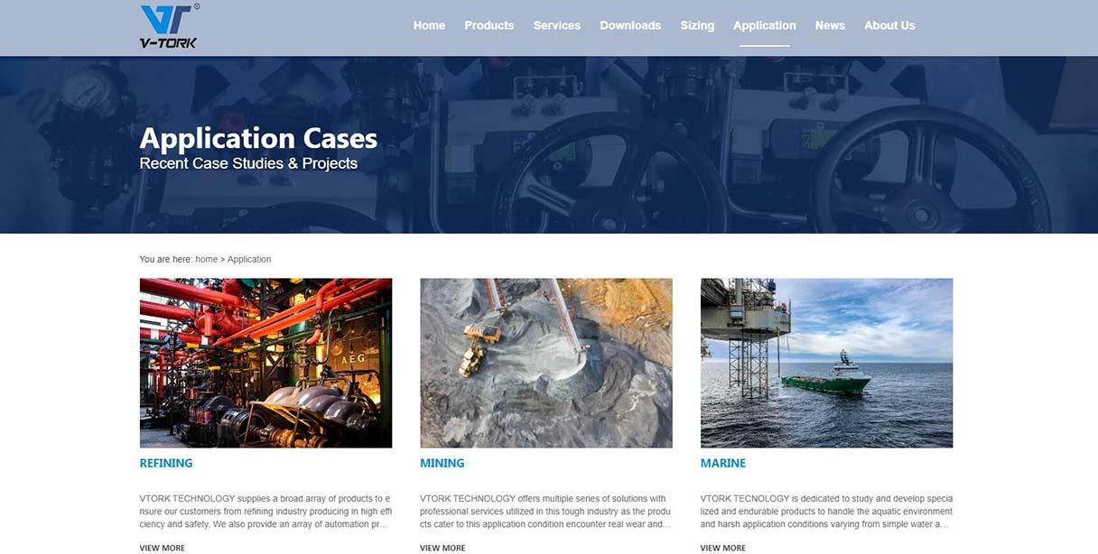 纬途流体外贸网站建设